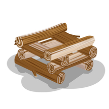 Example of a Log Cabin Campfire Lay