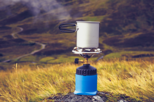 Pot Cooking on Portable Stove
