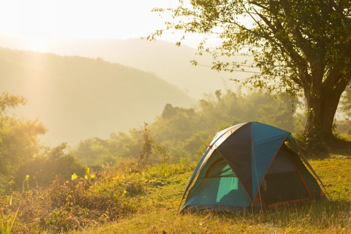 Primitive Camping - Tent in Wilderness