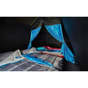 Family Cabin Tent Interior With 4 Air Mattresses