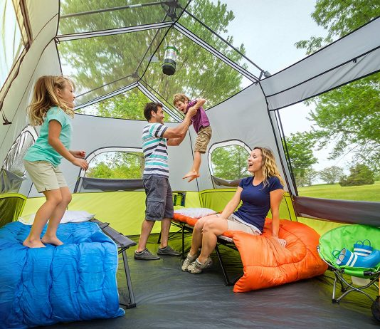 Family Inside The Core Instant Cabin Tent