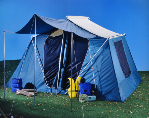 A large cabin tent.