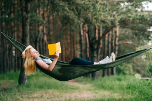 Laying In A Camping Hammock