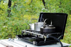 Kettle On Propane Camping Stove