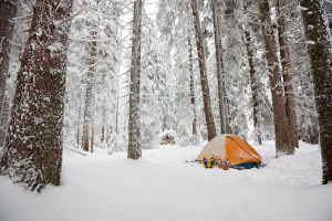 A Four Season Tent in the Snow