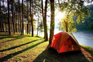 Camping Tent for a Four Person Family
