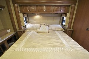 Large Bed Inside of an RV Motorhome